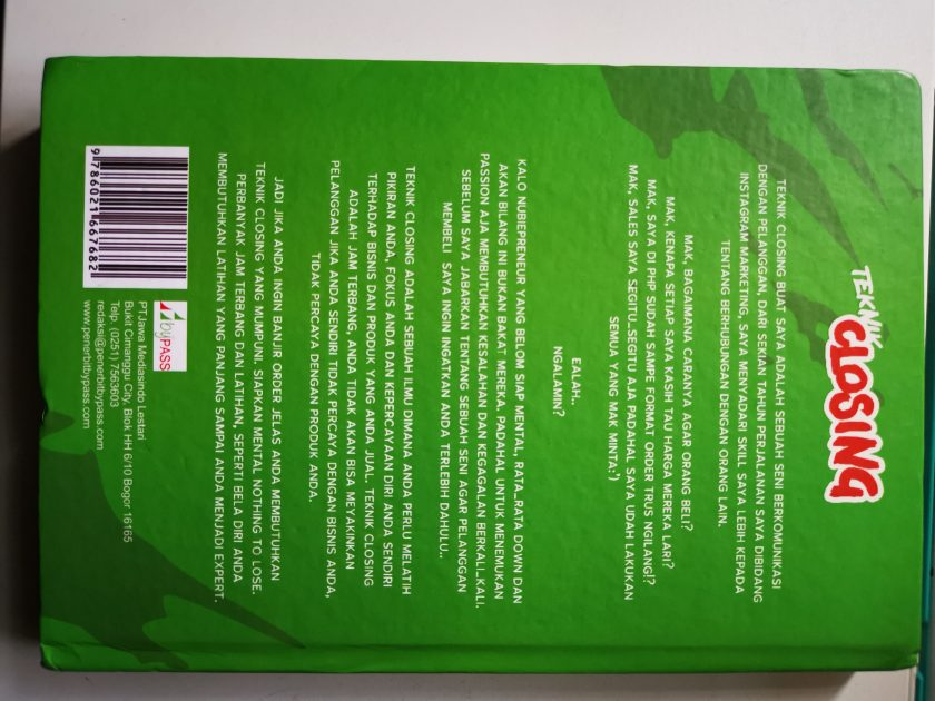Buku Teknik Closing - Rico Huang & Mak Diah Gomay
